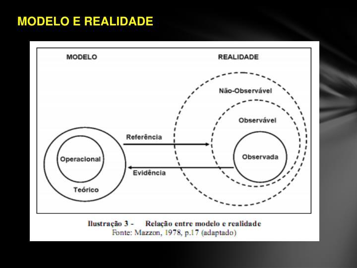 MODELO E REALIDADE