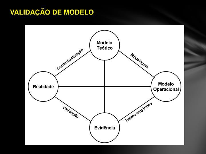 VALIDAÇÃO DE MODELO