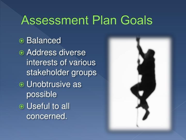 Assessment Plan Goals