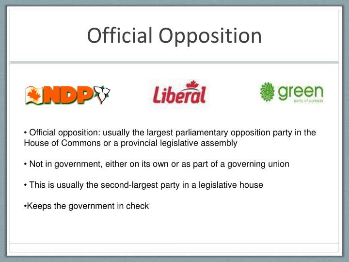 Official Opposition