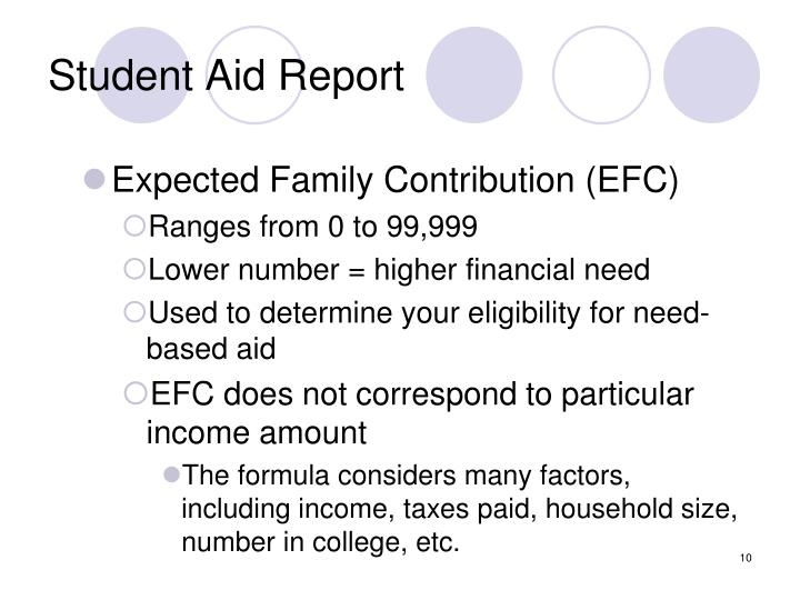 Student Aid Report