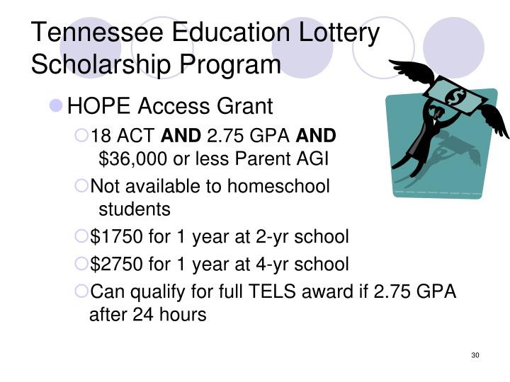 Tennessee Education Lottery Scholarship Program