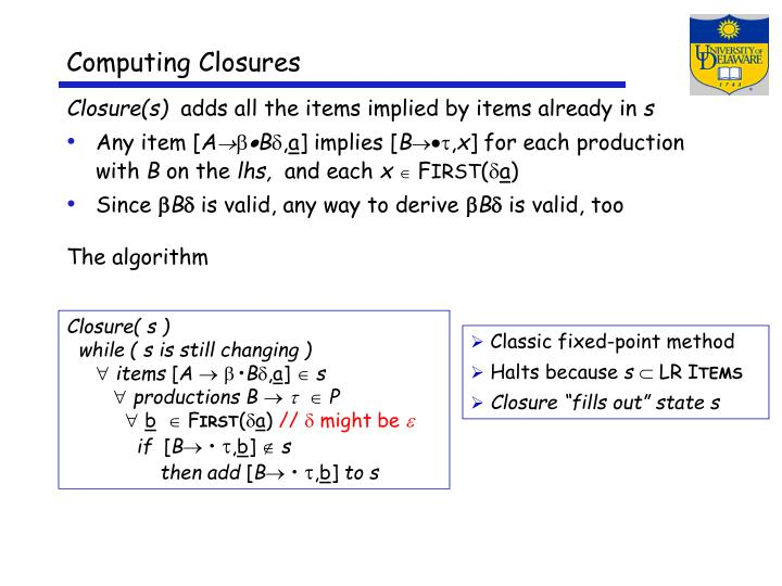 Computing Closures