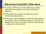 data privacy protection other issues