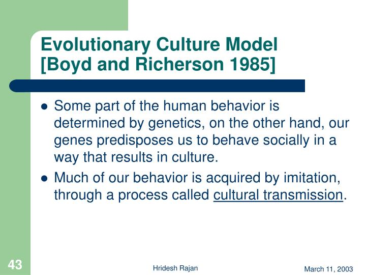 Evolutionary Culture Model