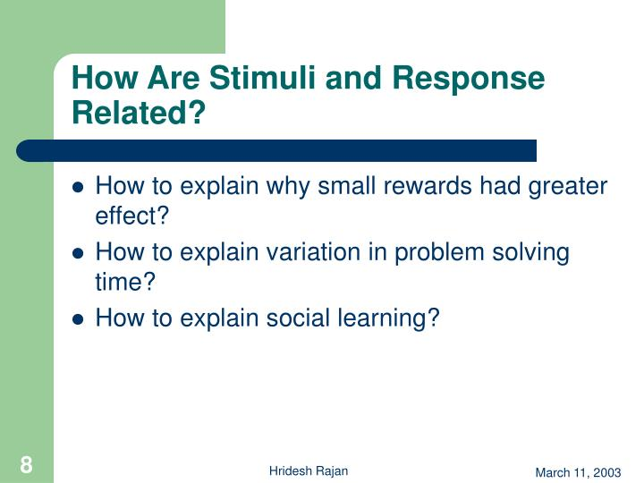 How Are Stimuli and Response Related?