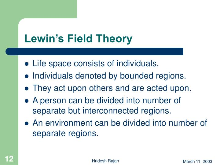 Lewin's Field Theory