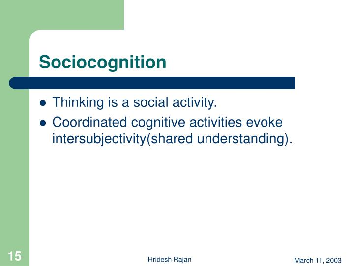 Sociocognition