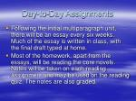 day to day assignments