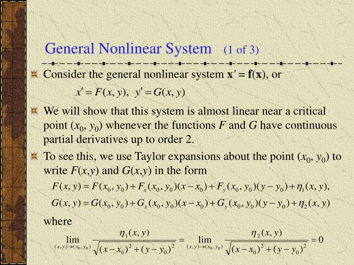 General Nonlinear System