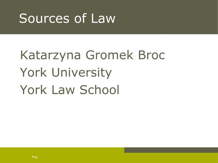 sources of law n.