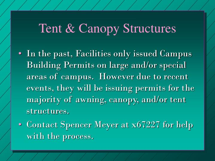 Tent & Canopy Structures