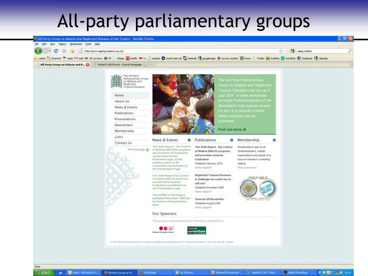 All-party parliamentary groups