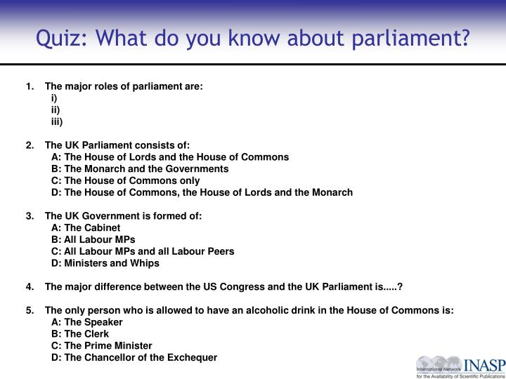 Quiz: What do you know about parliament?
