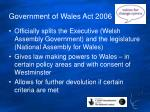 government of wales act 2006