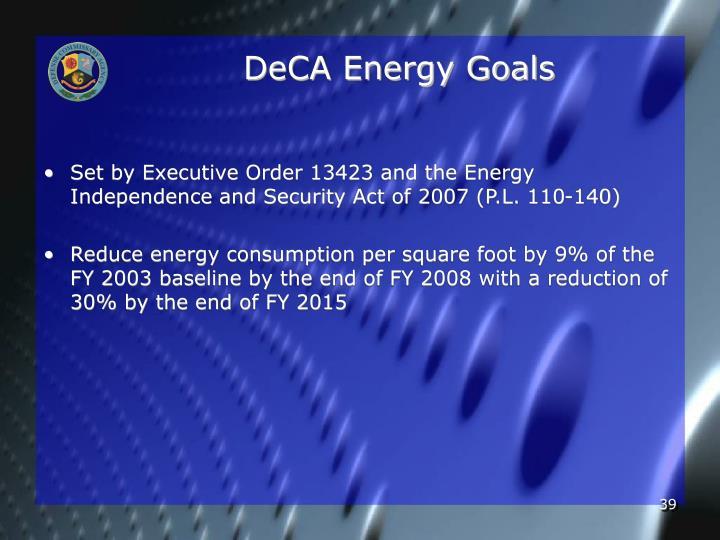 DeCA Energy Goals