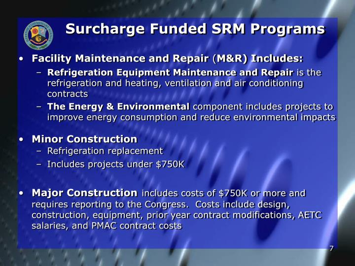 Surcharge Funded SRM Programs