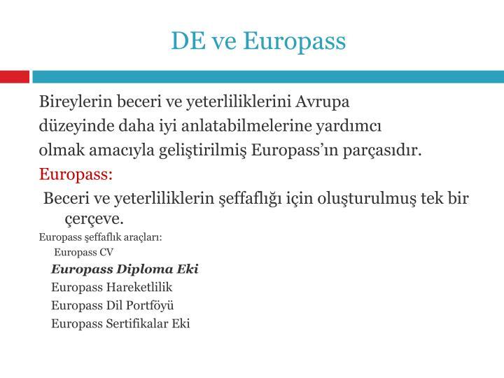 DE ve Europass