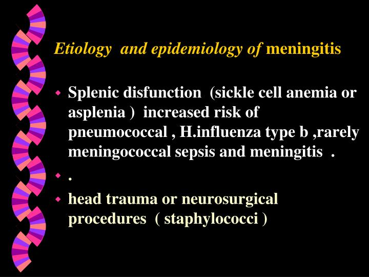 Etiology  and epidemiology of