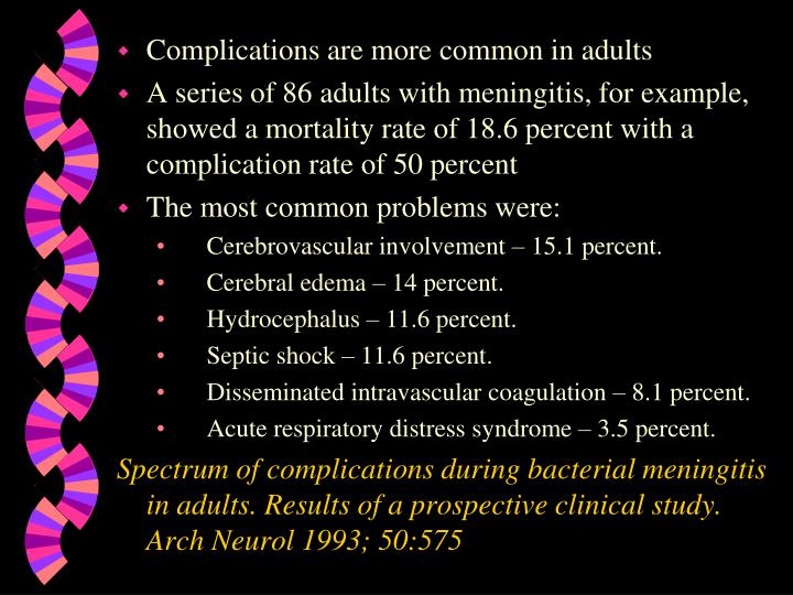 Complications are more common in adults