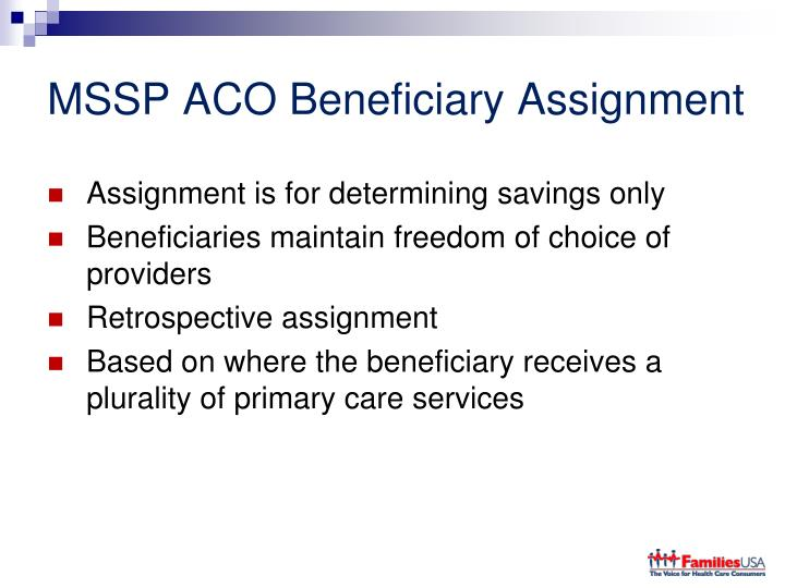 MSSP ACO Beneficiary Assignment