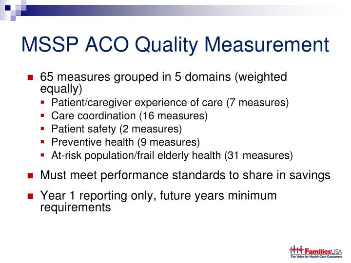 MSSP ACO Quality Measurement