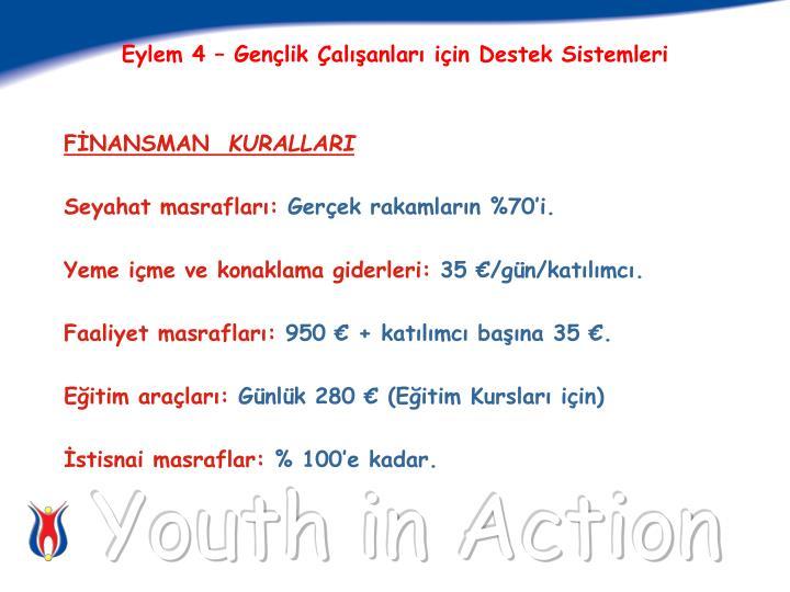 Eylem 4 – Gençlik Çalışanları için Destek Sistemleri