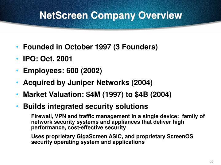 NetScreen Company Overview