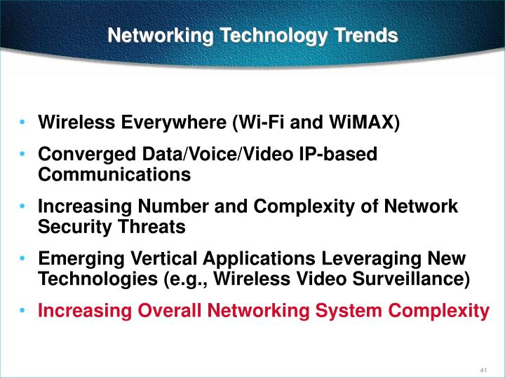 Networking Technology Trends