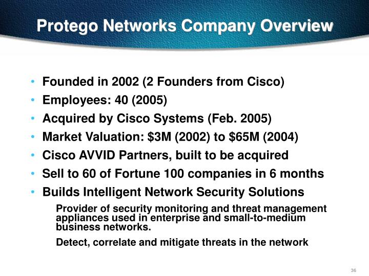 Protego Networks Company Overview