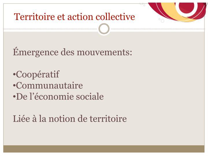 Territoire et action collective
