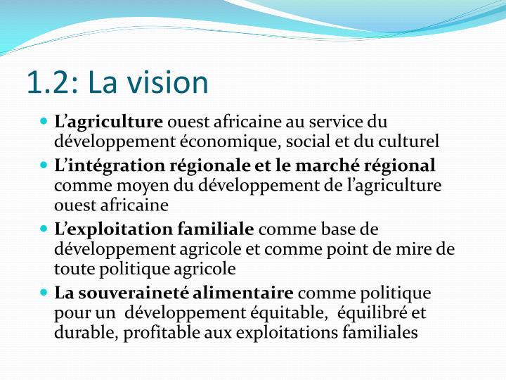 1.2: La vision