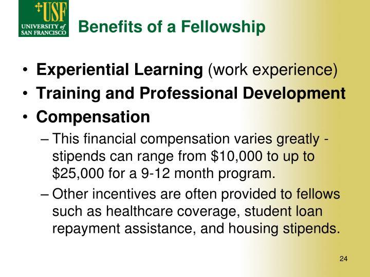 Benefits of a Fellowship