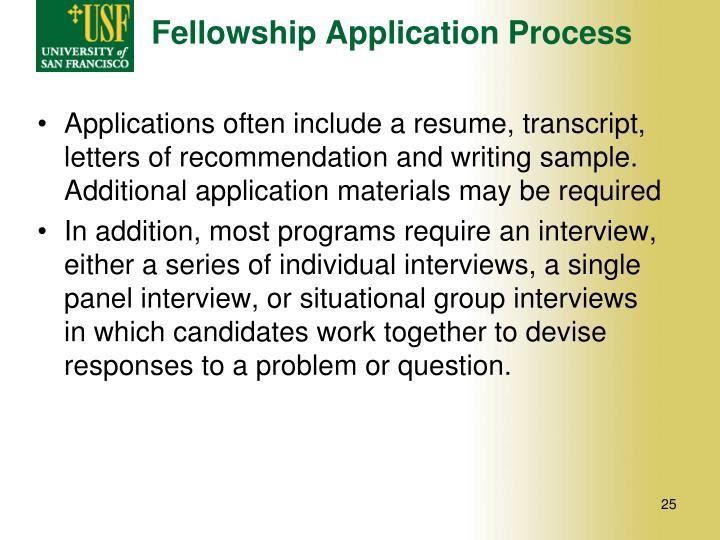 Fellowship Application Process