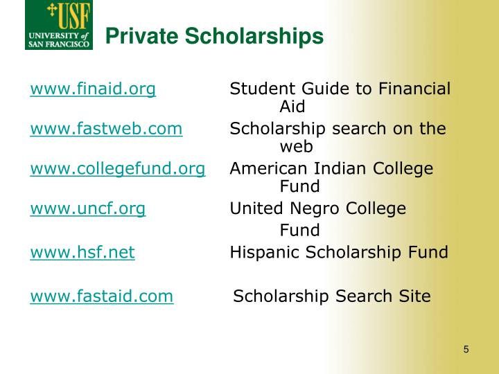 Private Scholarships