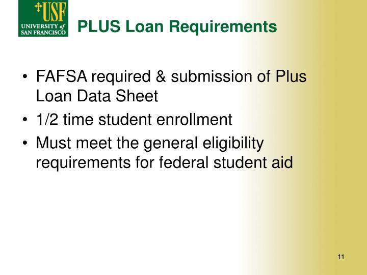 PLUS Loan Requirements