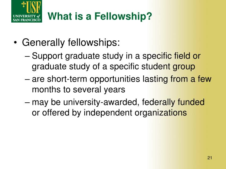 What is a Fellowship?