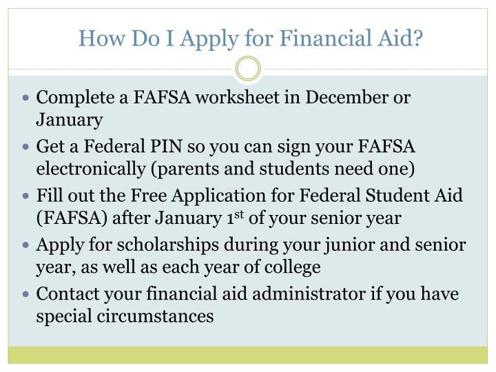How Do I Apply for Financial Aid?