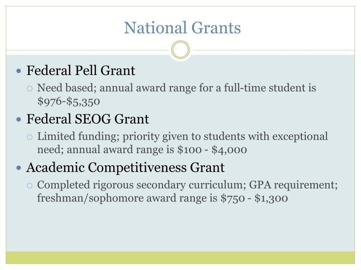 National Grants