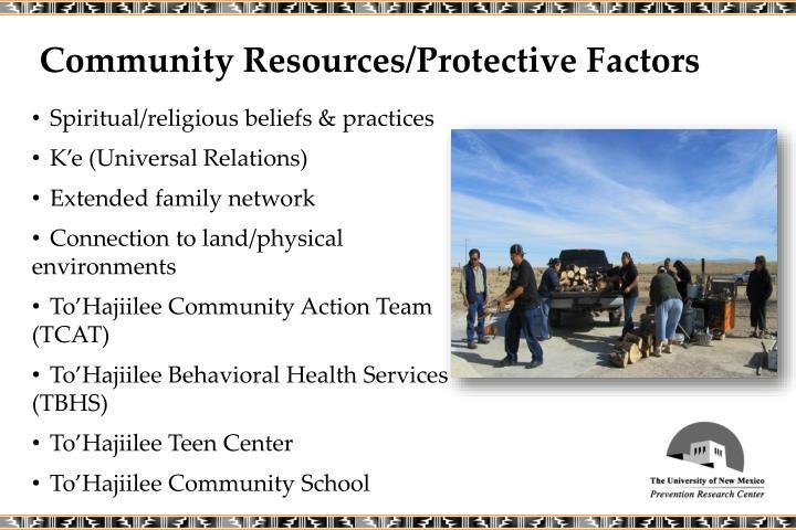 Community Resources/Protective Factors