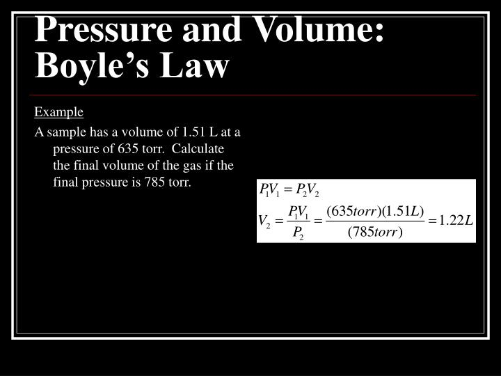 Pressure and Volume: