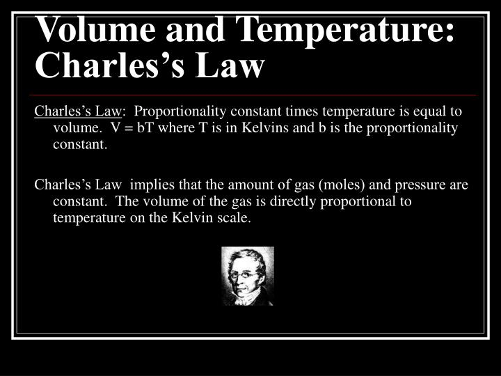 Volume and Temperature: