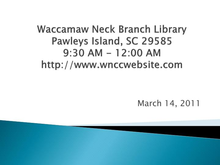 Waccamaw Neck Branch Library
