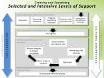 creating and sustaining selected and intensive levels of support1