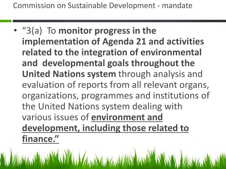 Commission on Sustainable