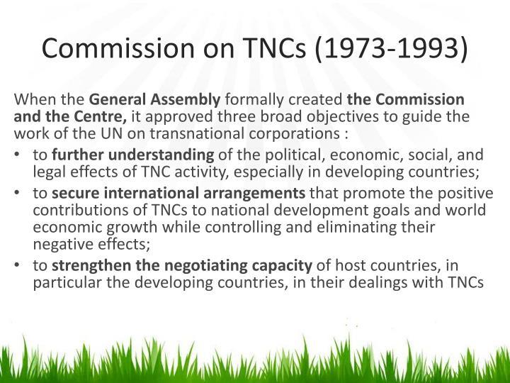 Commission on TNCs (1973-1993)