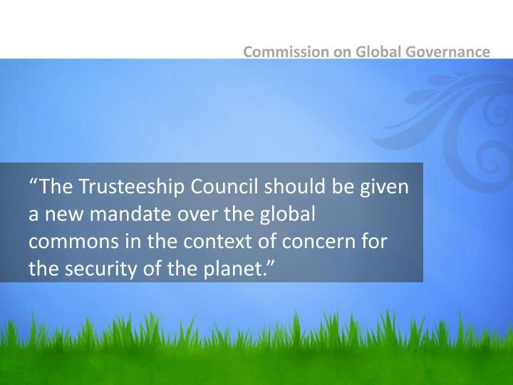 Commission on Global Governance