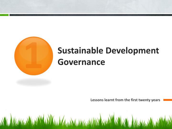 Sustainable development governance