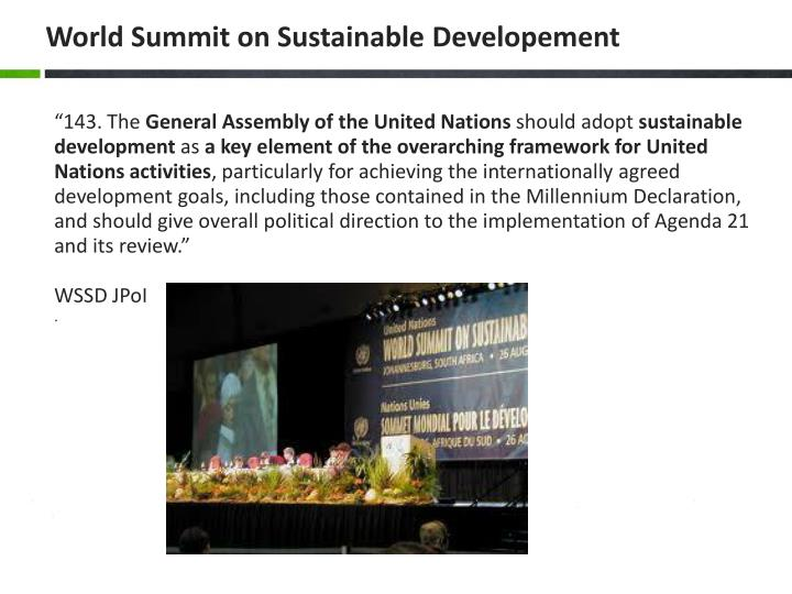 World Summit on Sustainabl