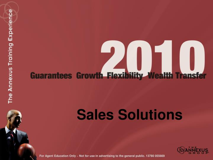 Sales solutions